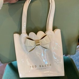 Ted Baker small white tote bag